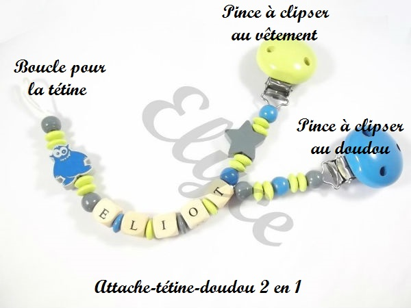 Attache t tine ou attache doudou moto boutique - Attache sucette personnalise ...