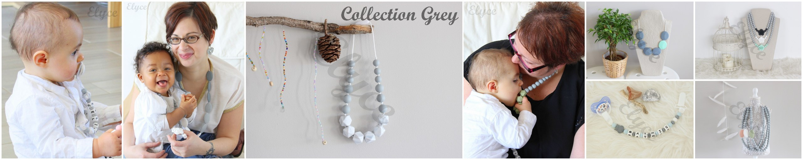 collier de dentition en silicone teething necklace for mom mama and baby pour maman et bébé, attache tétine personnalisé personnalised pacifier clip