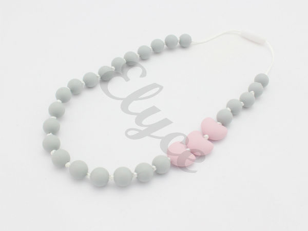 collier de dentition en silicone teething necklace for mom mama and baby pour maman et bébé