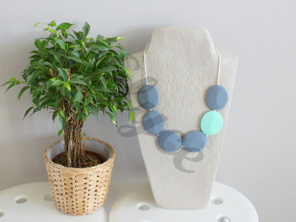 Collier de dentition grey mint