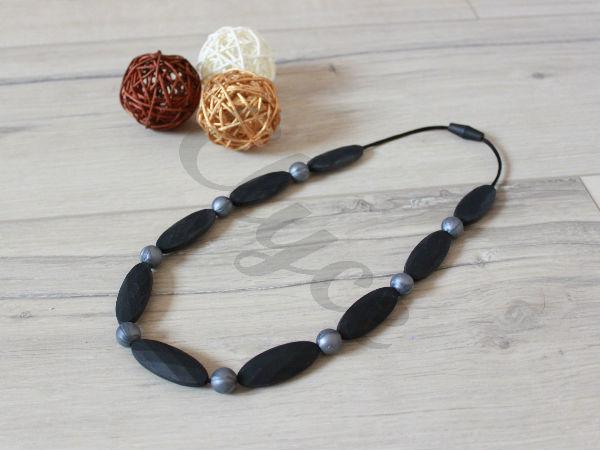 silicone teething necklace collier de dentition pour maman et bébé à mâchouiller
