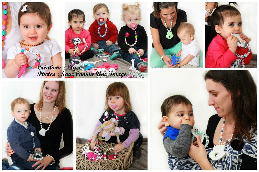 hochet de dentition en perles en silicone, personnalisé avec le prénom de bébé, crée par Elyce
