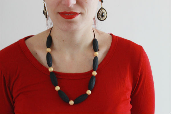 silicone teething necklace collier de dentition pour maman et bébé à mâchouiller NEALI